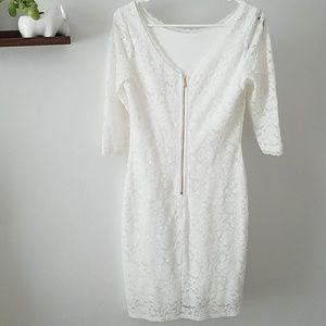 White shellli Segal dress, size 4